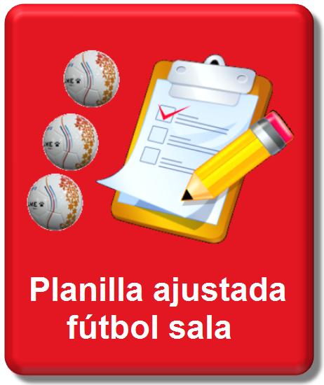 icono planilla ajustada fútbol sala