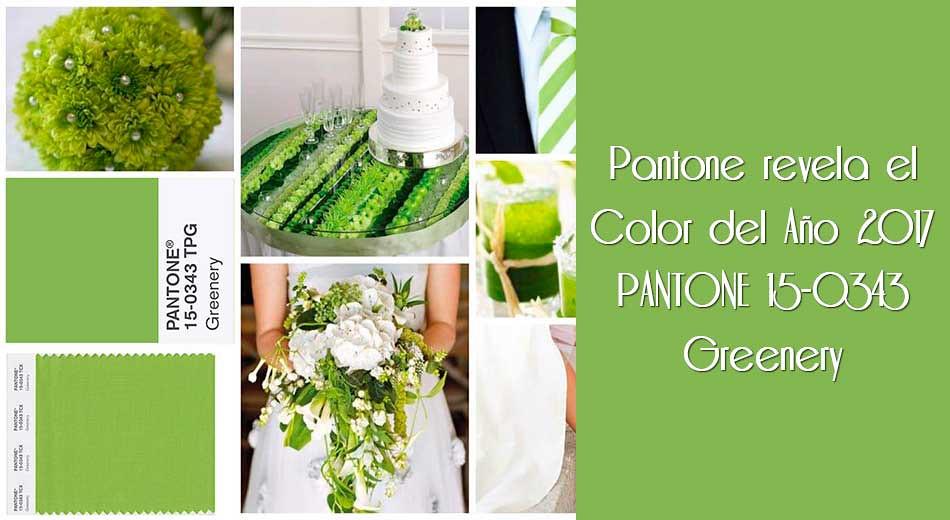 Pantone revela el Color del Año 2017 PANTONE Greenery
