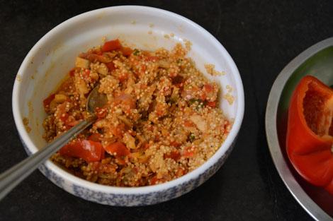 quinoa mushroom stuffing