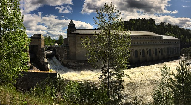iphone6+   Another spring flood at Solberfoss Power Plant, Norway