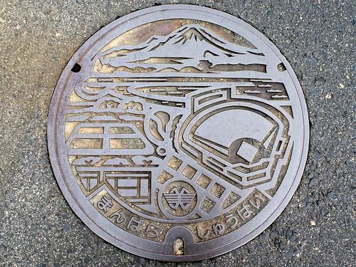 Manbara Mihonoseki Shimane, manhole cover (島根県美保関町万原のマンホール)
