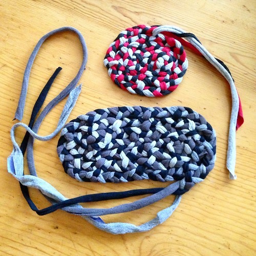 Work in progress braided rug