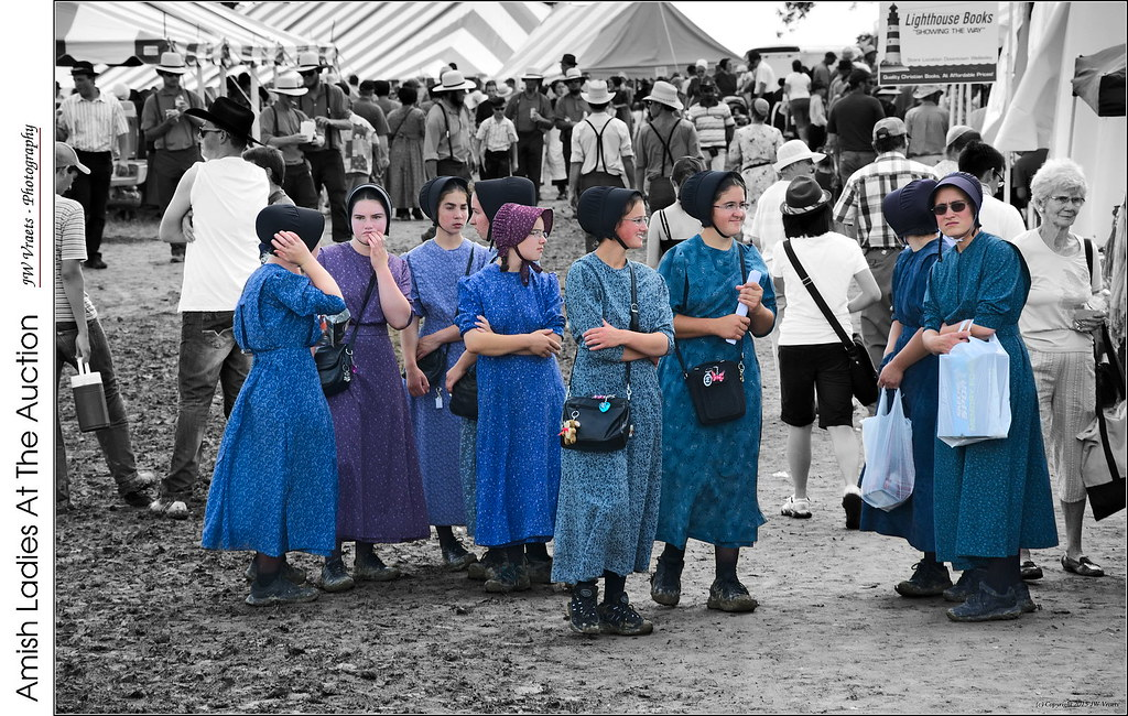 Amish Ladies At The Auction This Is Another Image From