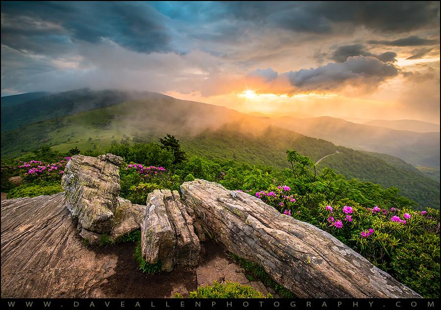 Tennessee Appalachian Mountains Sunset Scenic Landscape Ph
