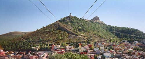 There is a gondola up to the Bufa, the highest point of the city of Zacatecas, Mexico