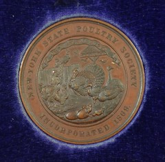 1869 New York State Poultry Society Medal obverse