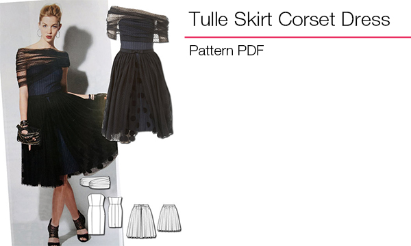 Tulle Skirt Corset Dress