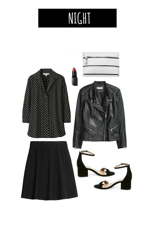 3 ways night polka dot blouse | Style On Target