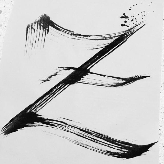 Calligraphy BlackLetter OldEnglish Z Letrografia SoltandoLaMano CraftPaper