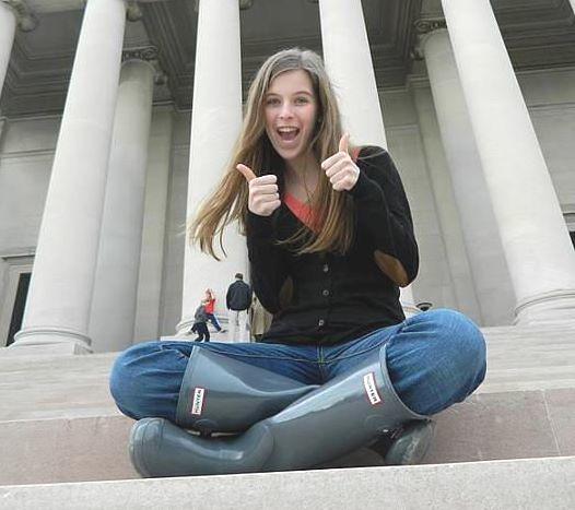 Girl Wearing Grey Hunter Boots | Beverly J. Wilson | Flickr