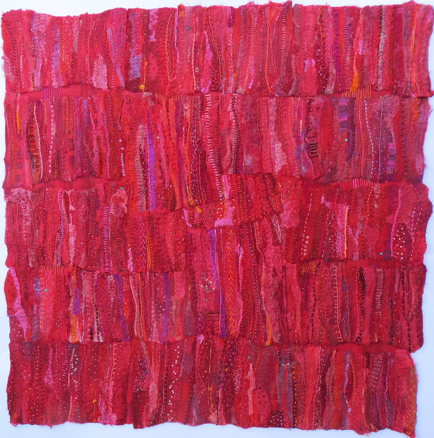 RED by Jane LaFazio measures 40x40 inches