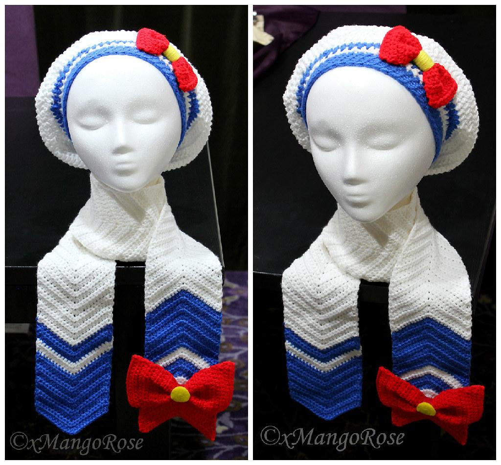 Sailor Moon Hat And Scarf Set Crochet Pattern Etsyc Flickr