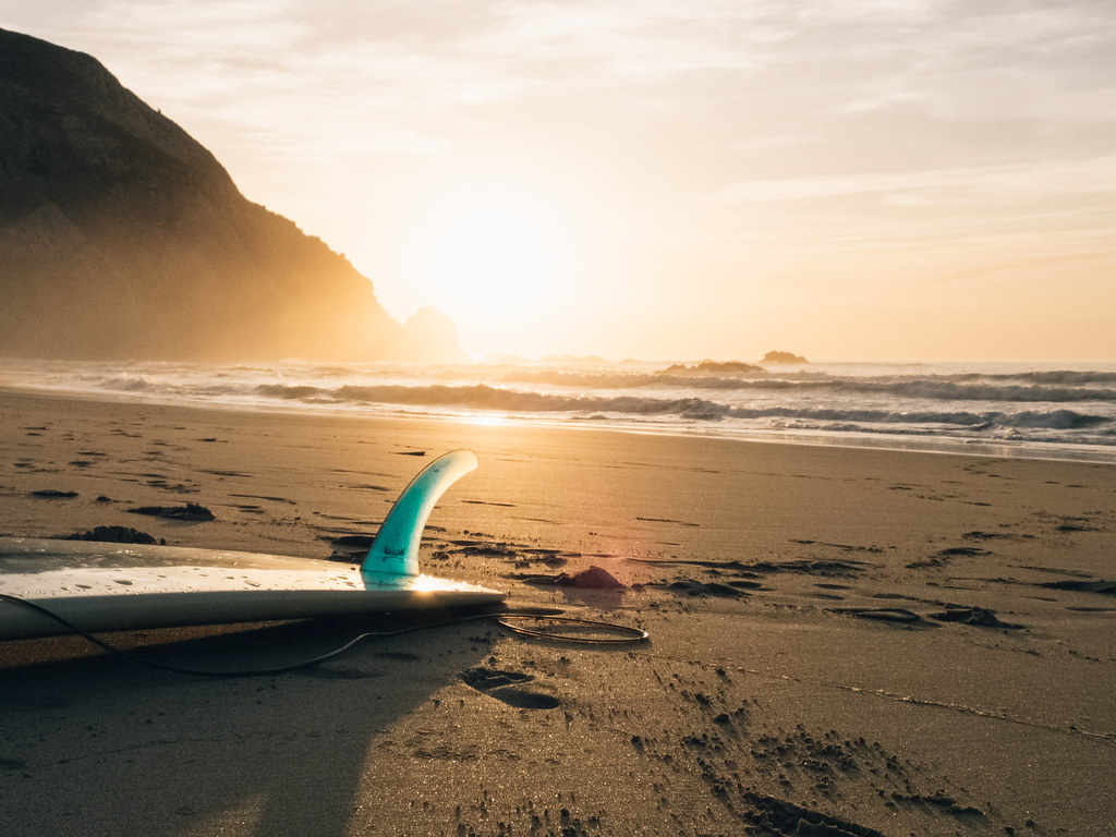 Surfboard Laying in Sand on Beach | License: Public Domain ...