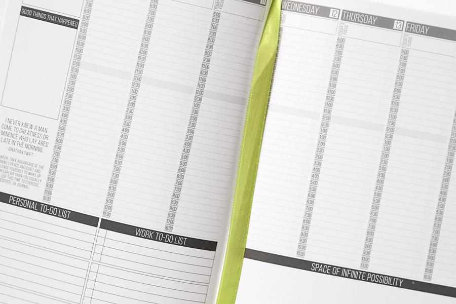 closeup of weekly scheduling planner www yourbestdigs com flickr