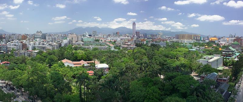 台北植物園鳥瞰。台北植物園提供。