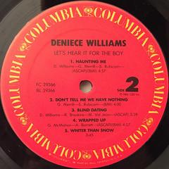 DENIECE WILLIAMS:LET'S HEAR IT FOR THE BOY(LABEL SIDE-B)