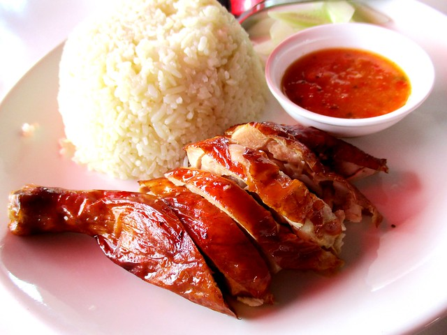Warung BM smoked chicken rice, drumstick