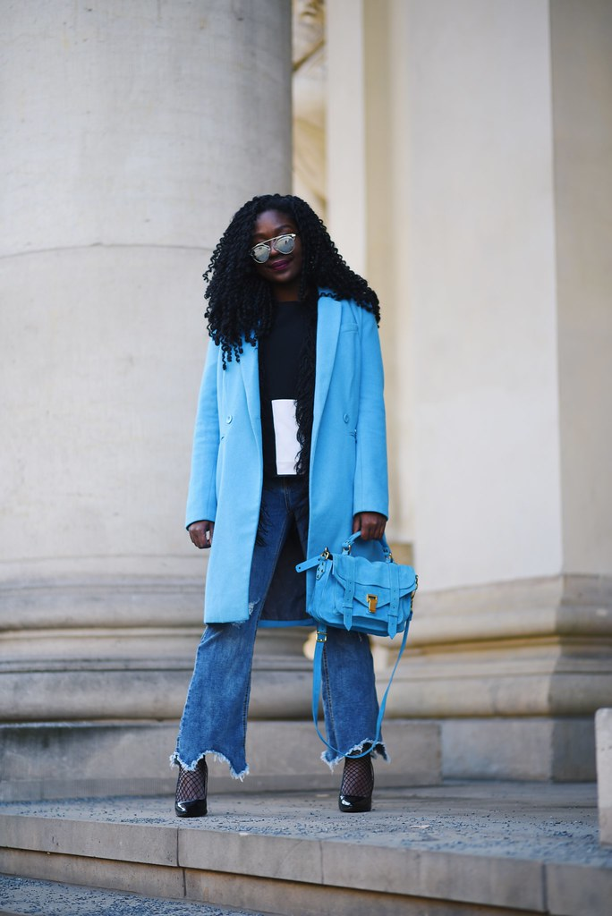 Blue coat Proenza Schouler ps1 Lois opoku
