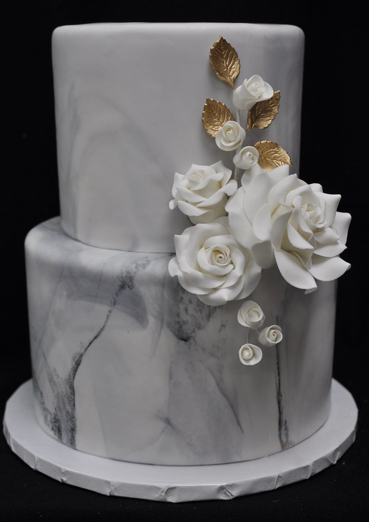 Marble And Rose Birthday Cake Jenny Wenny Flickr