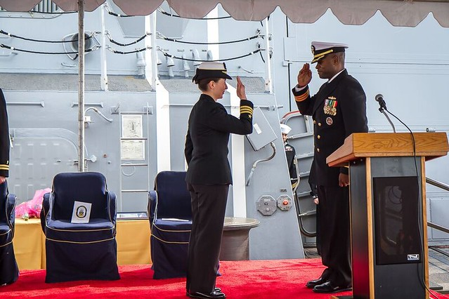 SAN DIEGO, CA. (NBSD)  – The guided-missile destroyer USS Dewey (DDG 105) held a Change of Command ceremony February 10th.