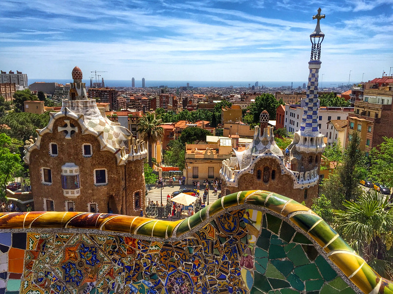 Park Guell Monumental Zone in Barcelona