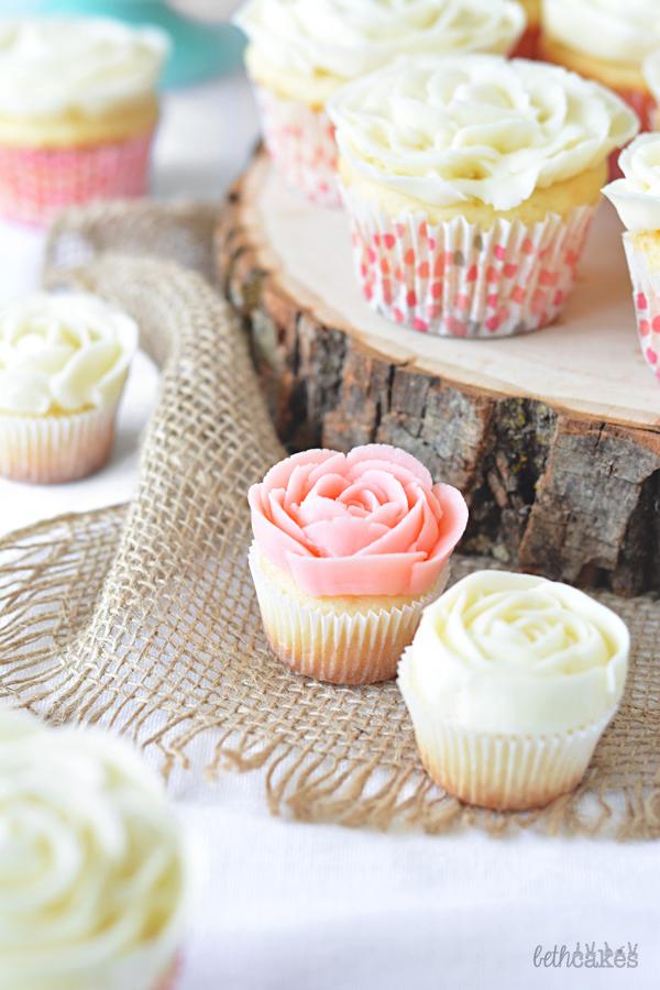 Rose Cupcakes! bethcakes.com