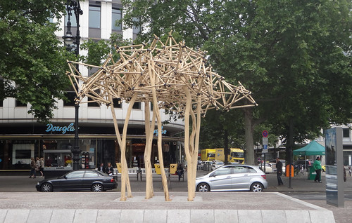 Bambusskulptur