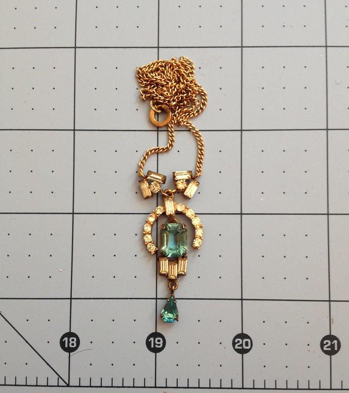 Vintage Diamante Necklace