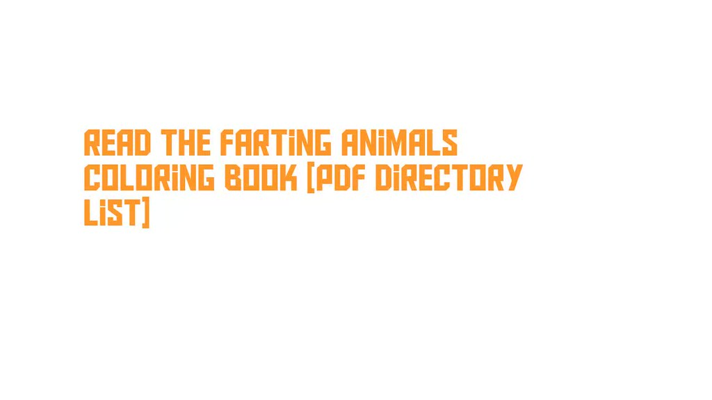 Read The Farting Animals Coloring Book Pdf Directory List Flickr