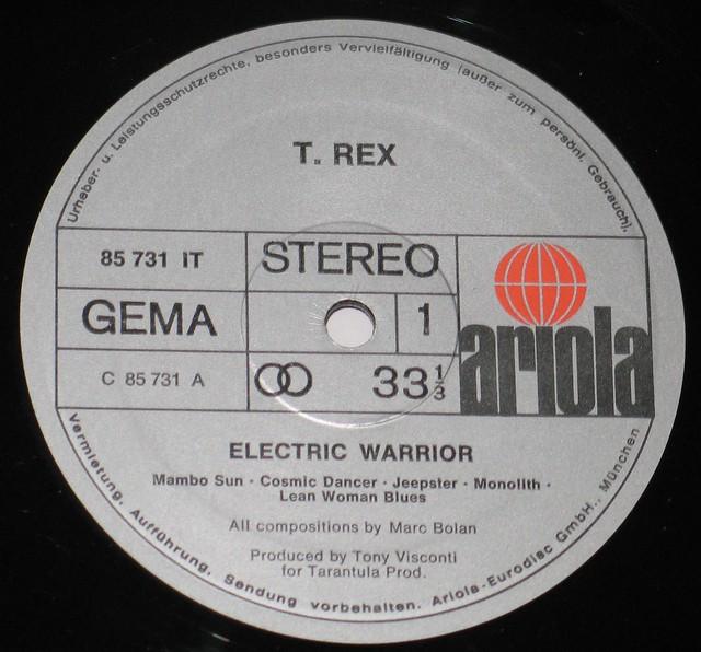 "T.Rex Electric Warrior 12"" vinyl LP"