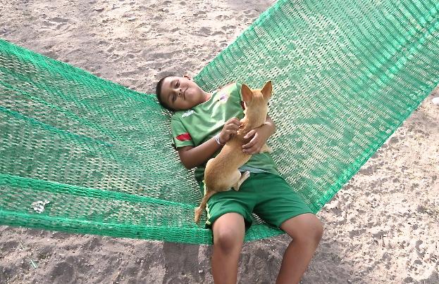 El Miguelito i el seu gos.