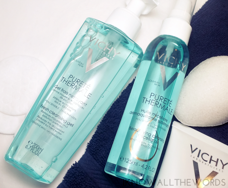 vichy purete thermale fresh cleansing gel and beutifying cleansing micellar oil