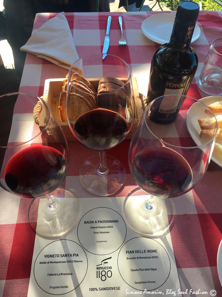 Os pratos podem ser combinados com uma mini degustação de vinhos da cantina Antinori.