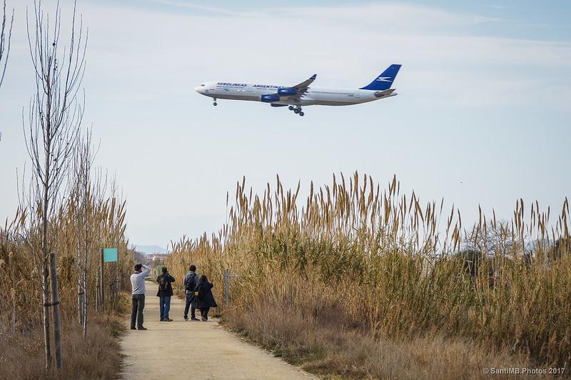 Aviones en vuelo rasante por el Camí de la Bunyola
