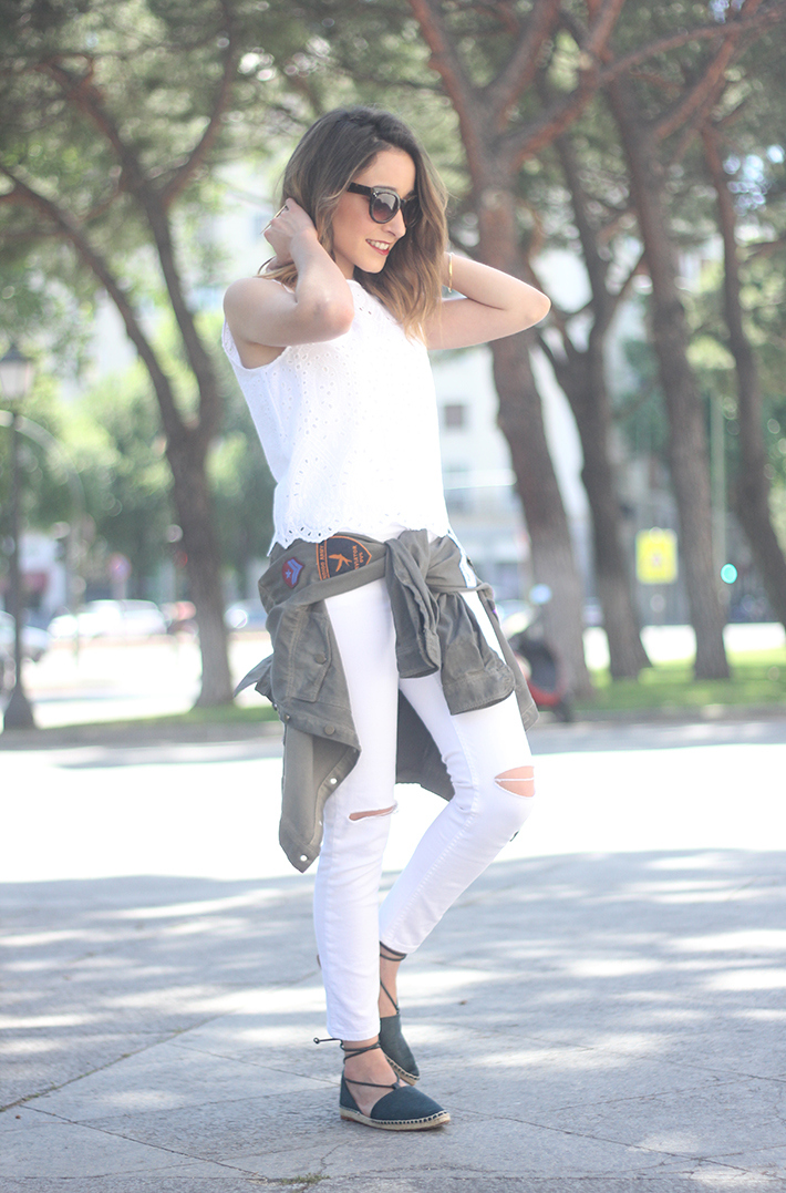 espadrilles with white outfit01