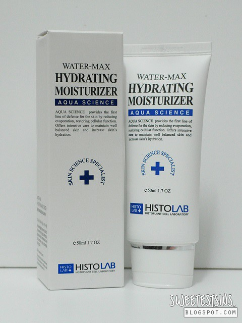 histolab water max hydrating moisturizer
