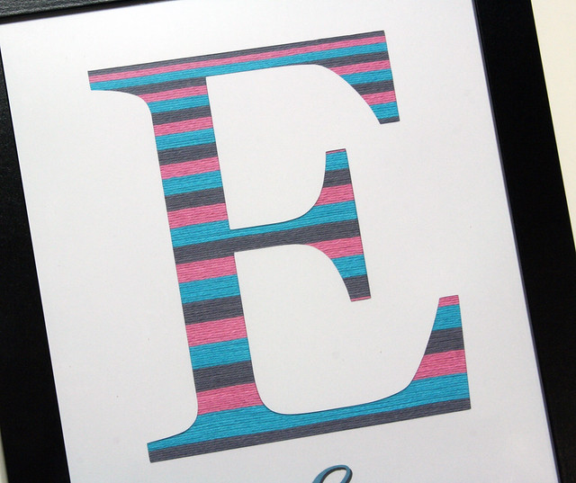 Solid Twine Monogram Art | shirley shirley bo birley Blog