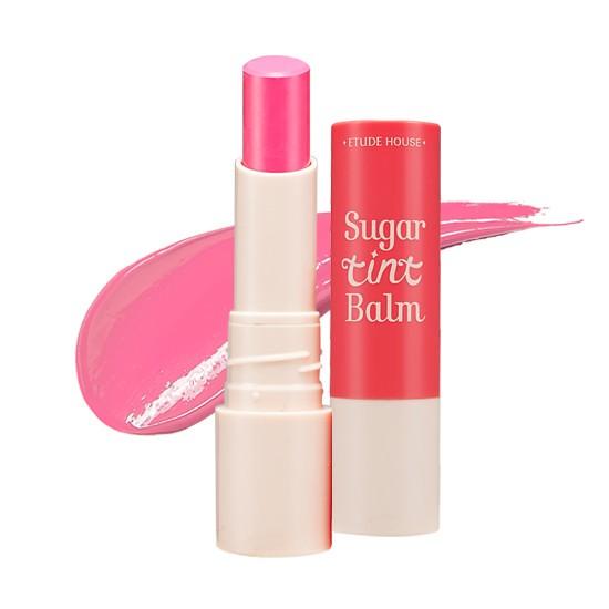 etude house sugar tint balm in pink macaron