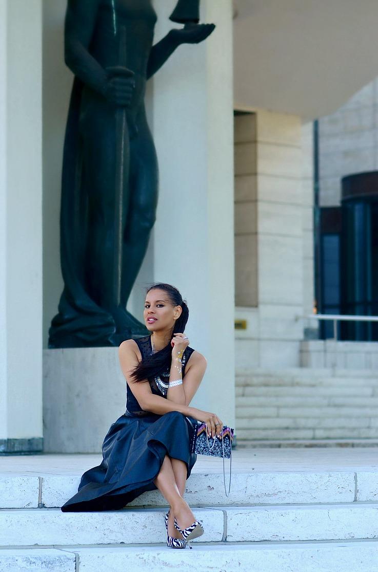 DSC_5350 Tamara Chloé, Leather Midi Skirt, Zara Glitter Box Bag, Zebra printed heels, Flash Tatoo FINAL