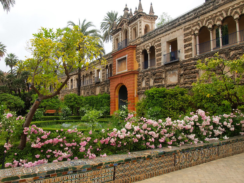Royal Alcazar gardens in Seville