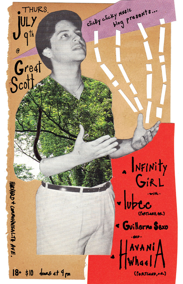 Clicky Clicky Presents: Infinity Girl, Lubec, Guillermo Sexo, Havania Whaal | Great Scott, Boston | 9 July