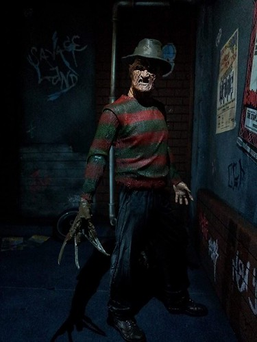 Custom made dioramas by Louise Townend - Freddy Krueger