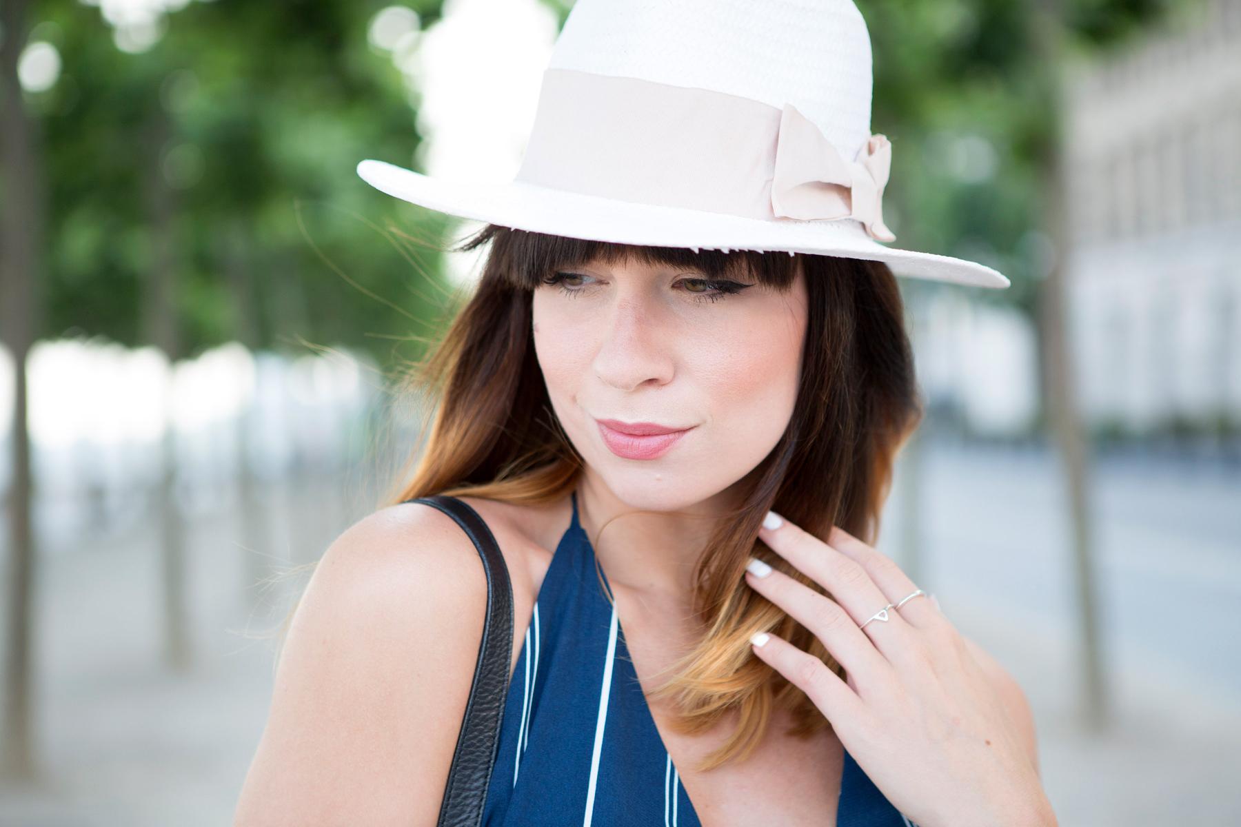 forever 21 jumpsuit overall streifen blue hat summer ombre cats & dogs ricarda schernus blogger berlin 5