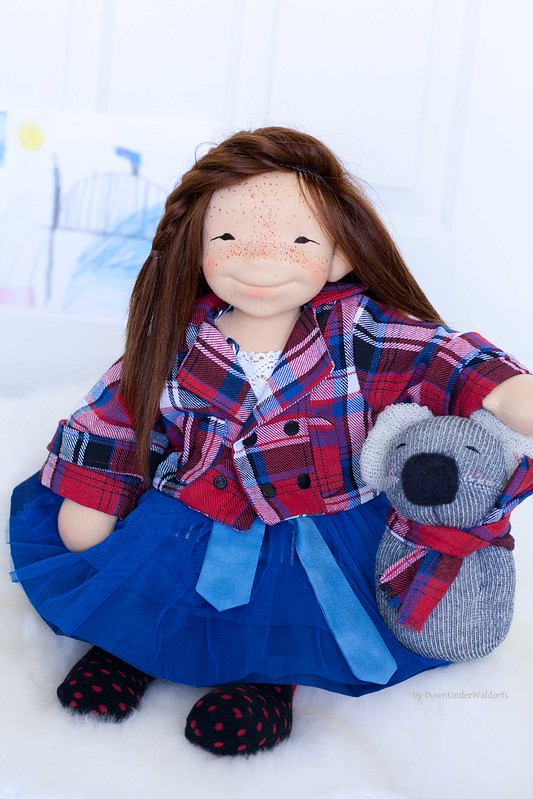 Sydney - 19 inch Natural Fiber Art doll by Down Under Waldorfs