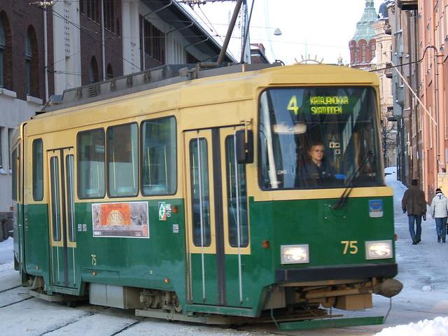 Transporte en Helsinki: un tranvía