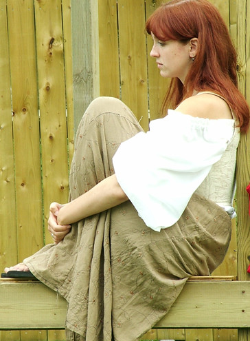 3d redhead in white lingerie teasing - 5 6