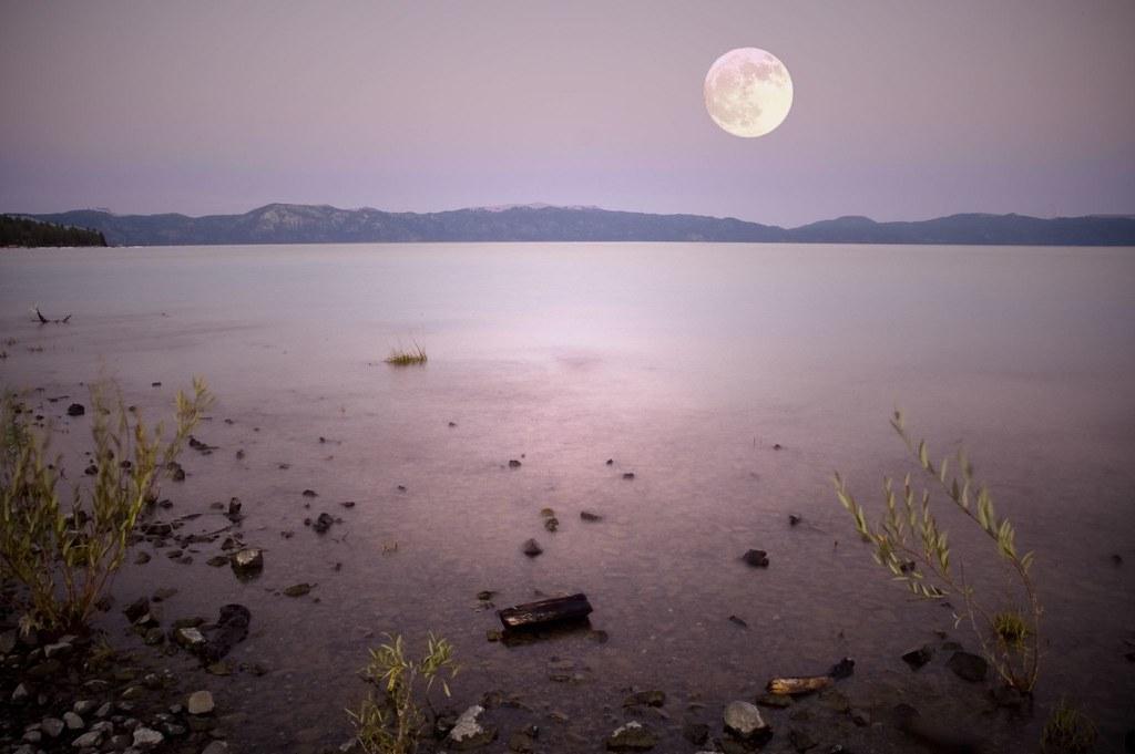 Moon over Lake Tahoe | © Harold Davis | Harold Davis | Flickr