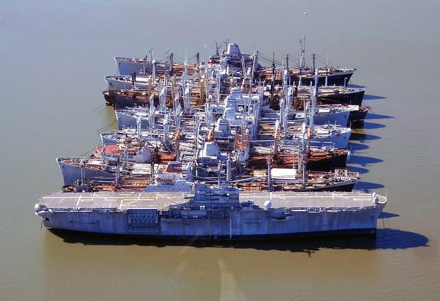 Uss New Orleans In The Mothball Fleet Suisun Bay Califor