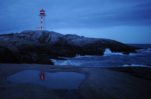 Peggy's Cove lighthouse with reflection | by chuckthewriter