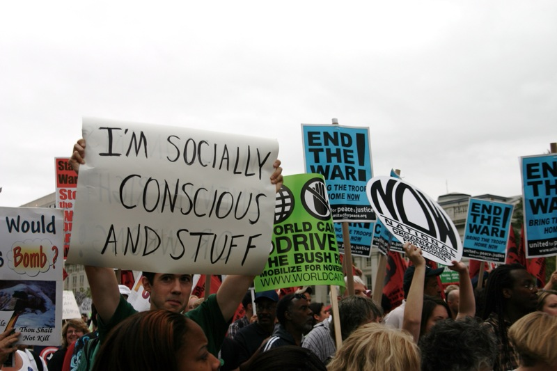 i'm socially conscious and stuff